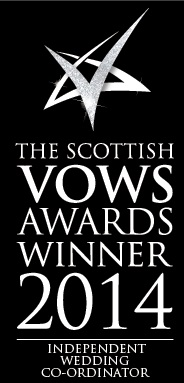 VOWS 2014 Winner of Independent Wedding Coordinator