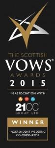 Scottish VOWS Awards 2015 Winner Logo