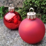 Festive Red Bauble Placecard Holders