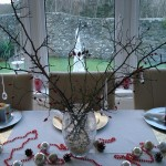 Bringing the outside in with a twiggie table centre