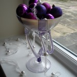 Vase filled with baubles