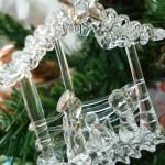Glass nativity tree decoration