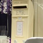 Personalised ivory wedding card post box