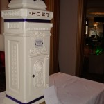 Tall standing wedding card post box