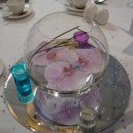 Fishbowl table centres