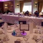 Wedding Breakfast dressed at Seamill Hydro