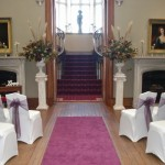 Blairquhan Castle Saloon Dressed in Purple for the Ceremony