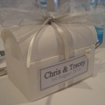 Handcrafted Favour Box in Silver for Turnberry Wedding