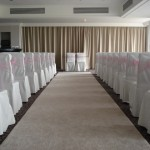 Light Pink Organza on Ceremony Chairs in Turnberry Suite