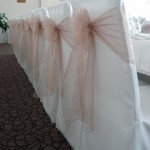 Taupe Organza on Top Table in Turnberry Suite
